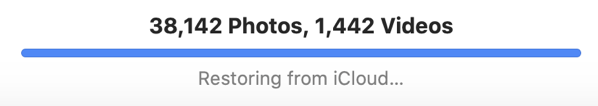 ICloud Photo Library restore