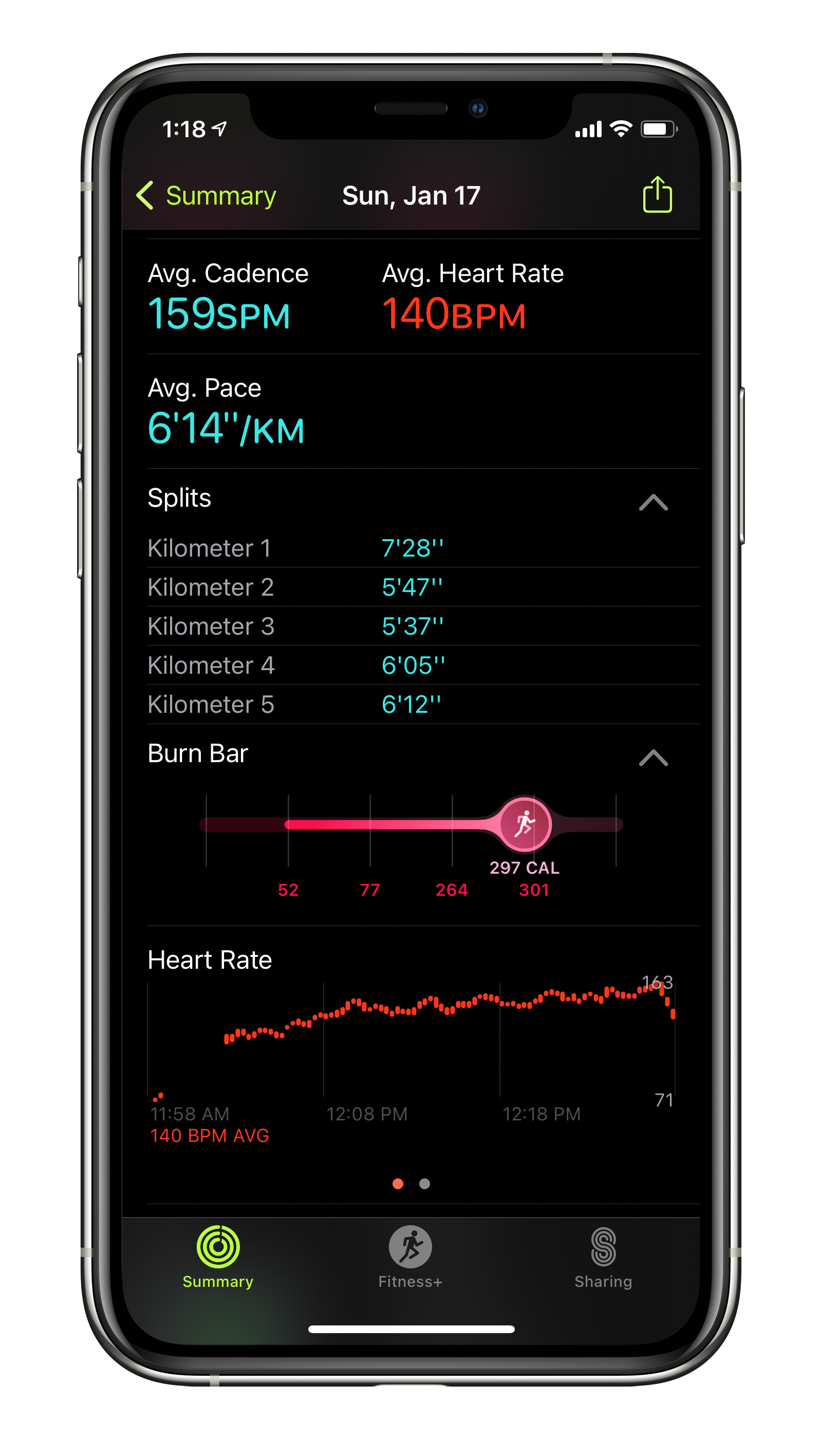 A few minutes of lost heartbeat readings