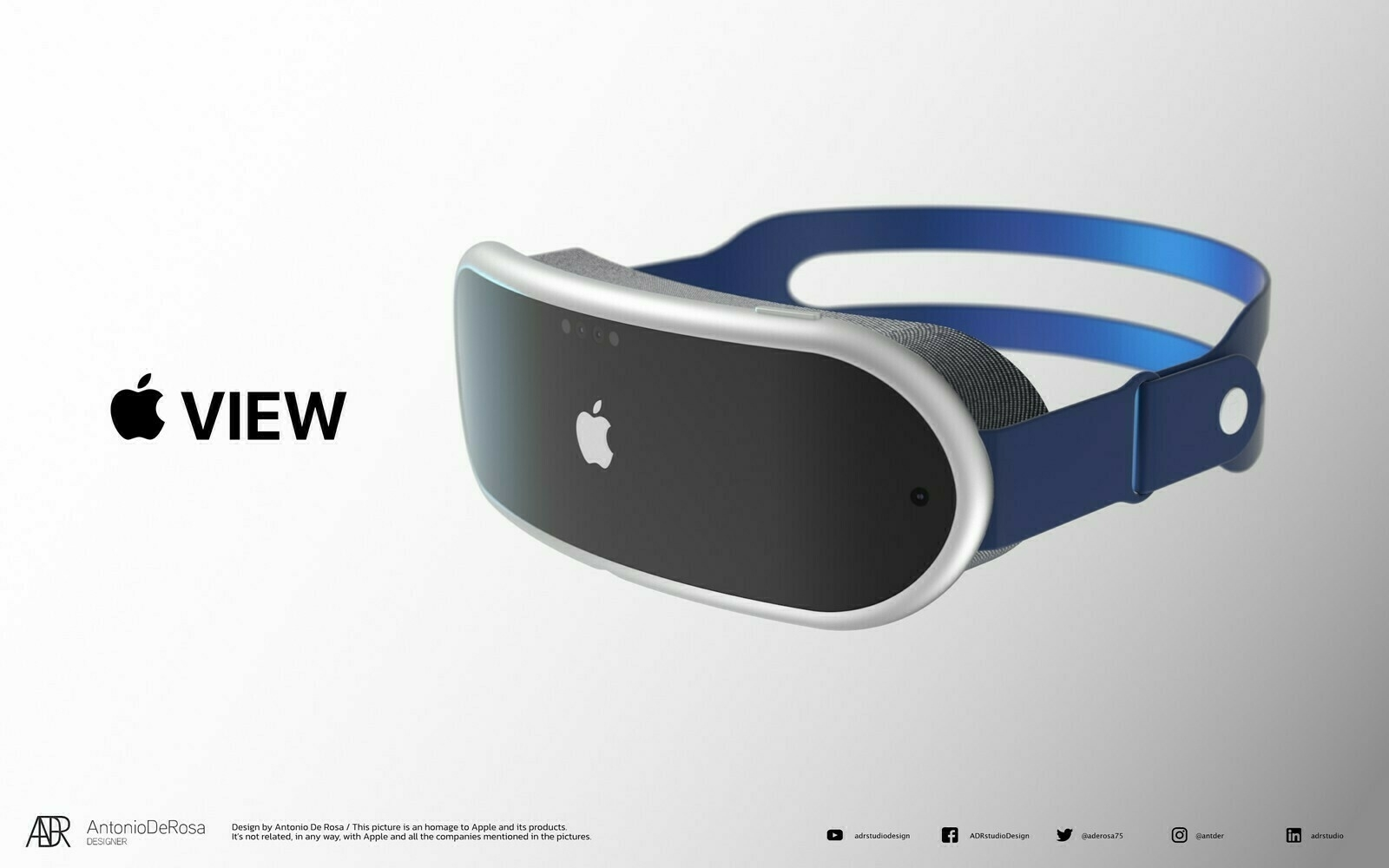 A mockup of Apple's VR headset based of rumours