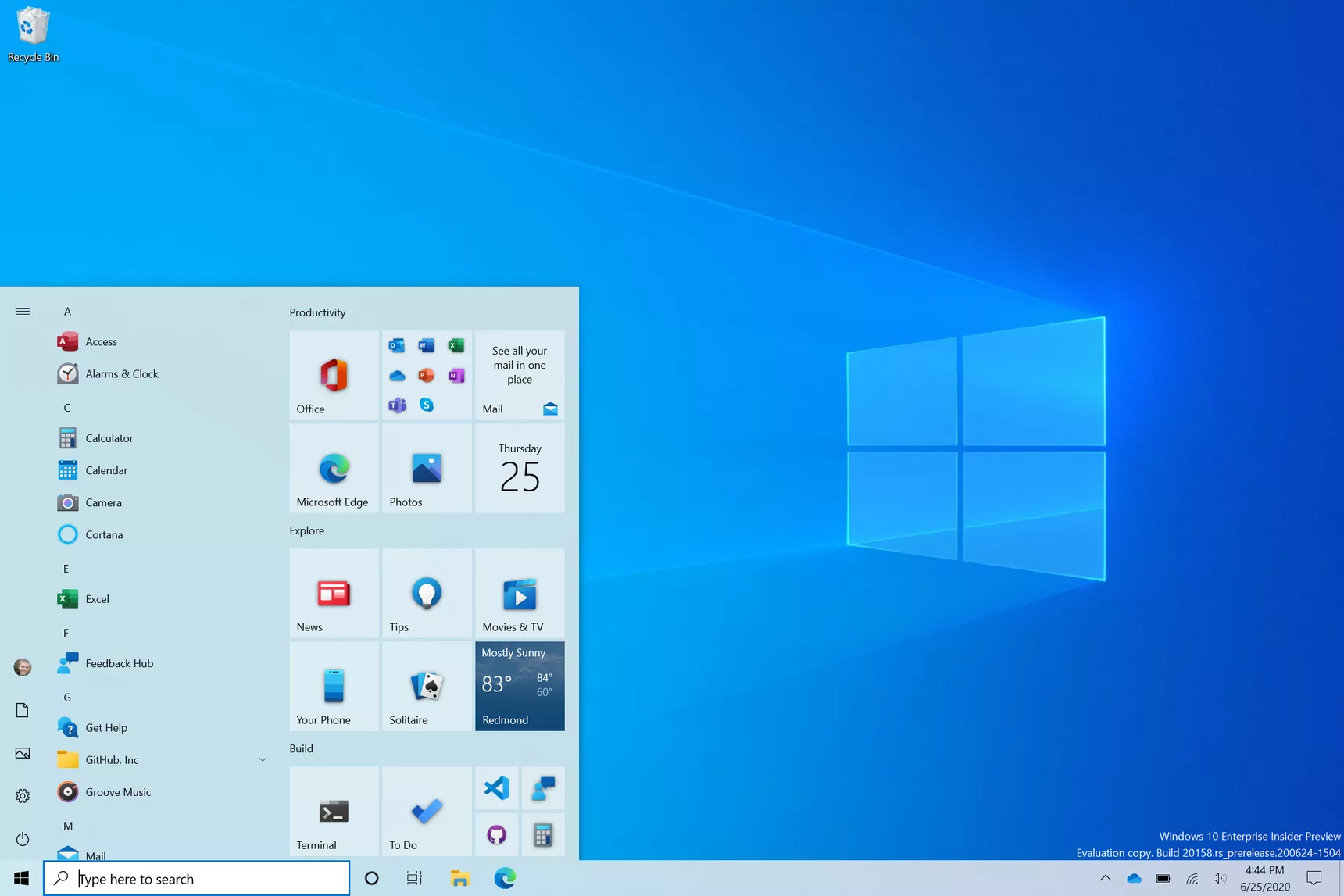 Newwindows10startmenu png